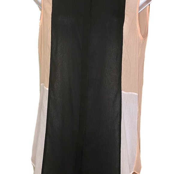 ERIN FETHERSTON NEW $89 Sz 4 Sheer Button Top